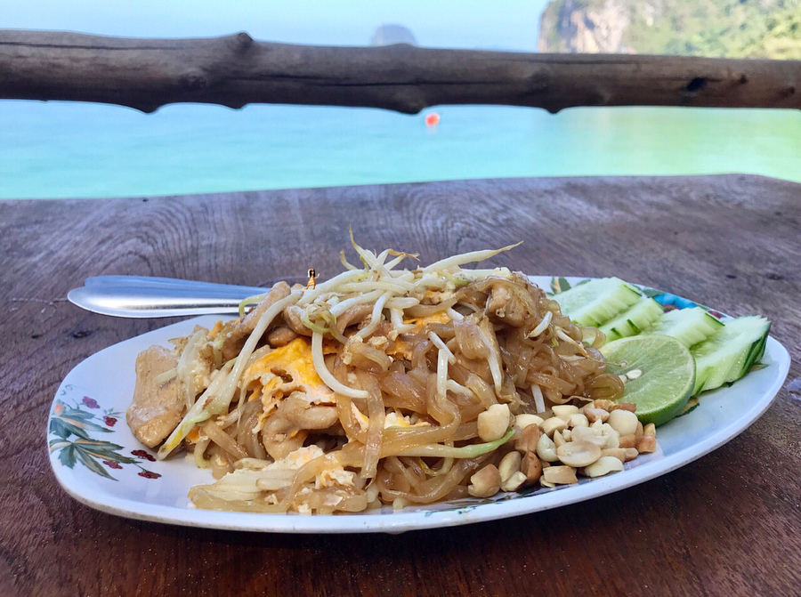 Pad Thai  views of the Andaman sea  ultimatehellip